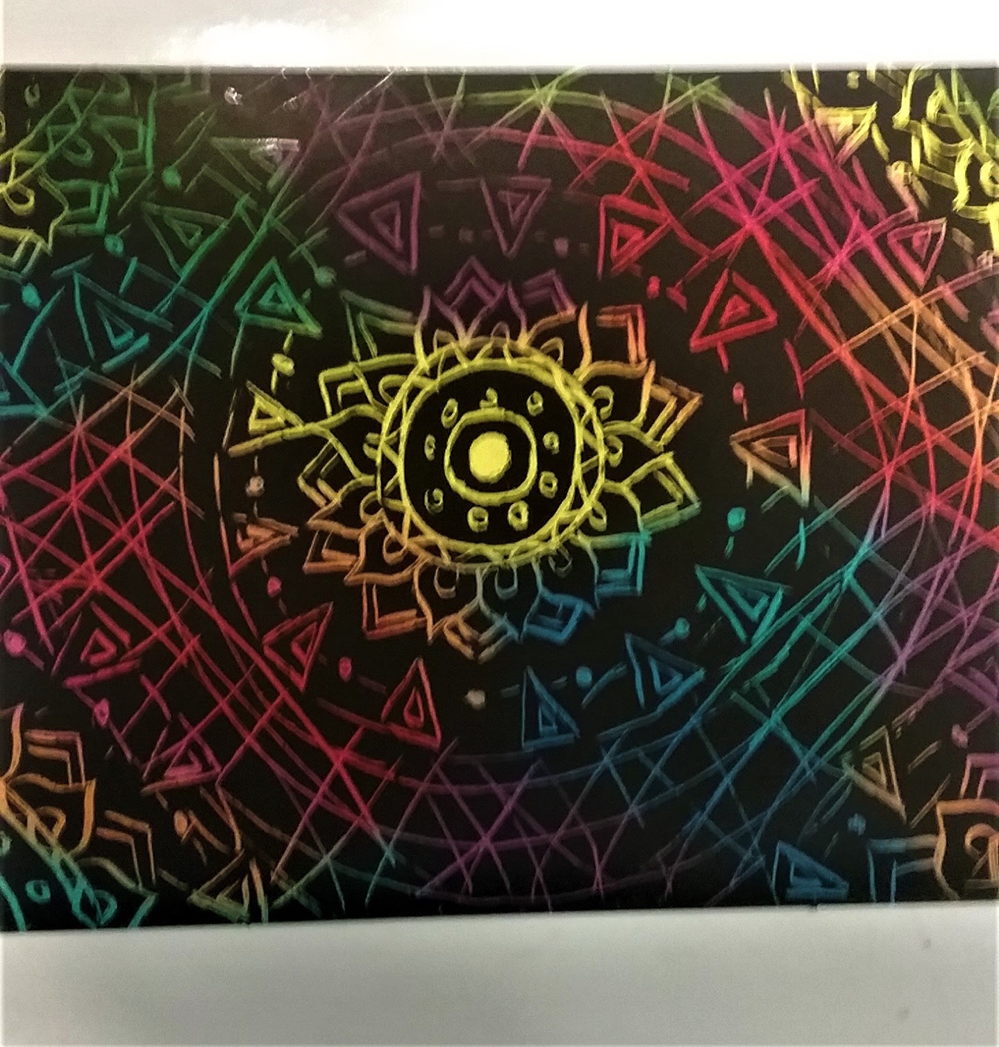 Scratch Art Greeting Card