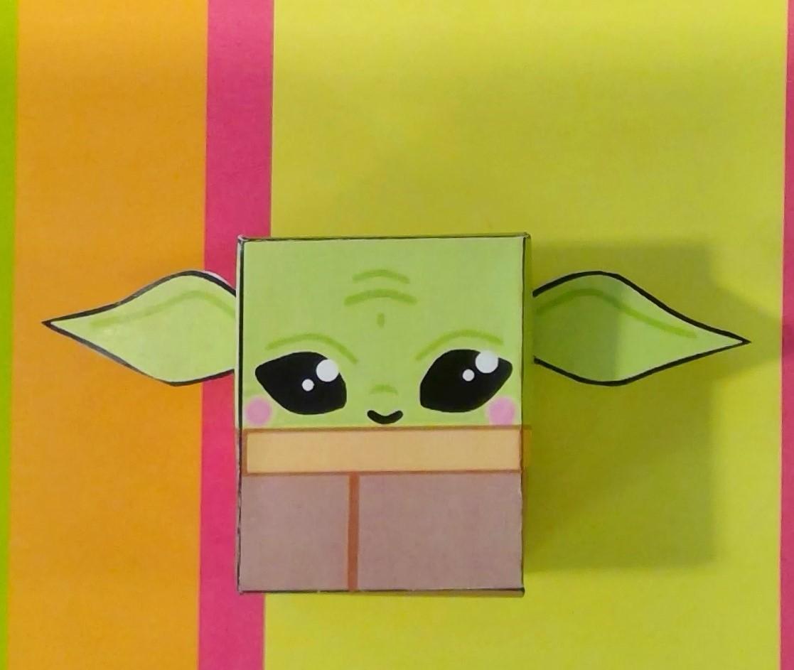 Baby Yoda Paper Cube